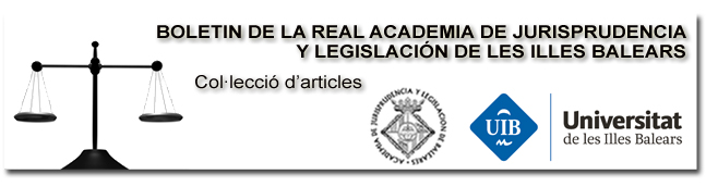 Butlletí de la Reial Acadèmia de Jurisprudència i Legislació de les Illes Balears