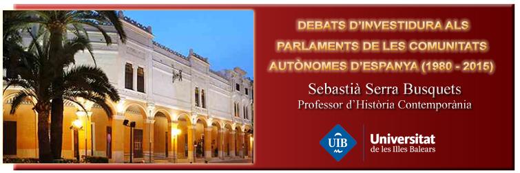 Debats d'Investidura als Parlaments de les Comunitats Autònomes d'Espanya (1980-2015)